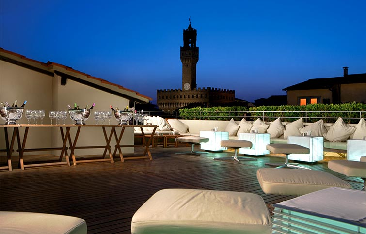 terrace at hotel continentale florence bettys luxury travels