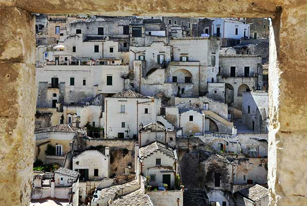 Matera framed by a window bettys luxury travels
